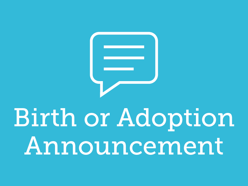Have a new baby? Tell us