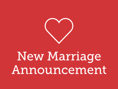 New Marriage Announcement