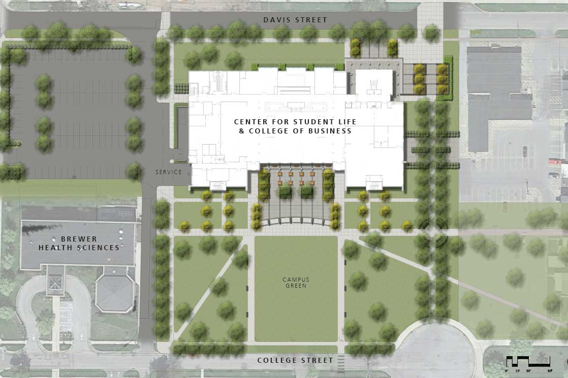 Center for student life and college of business for Planner site